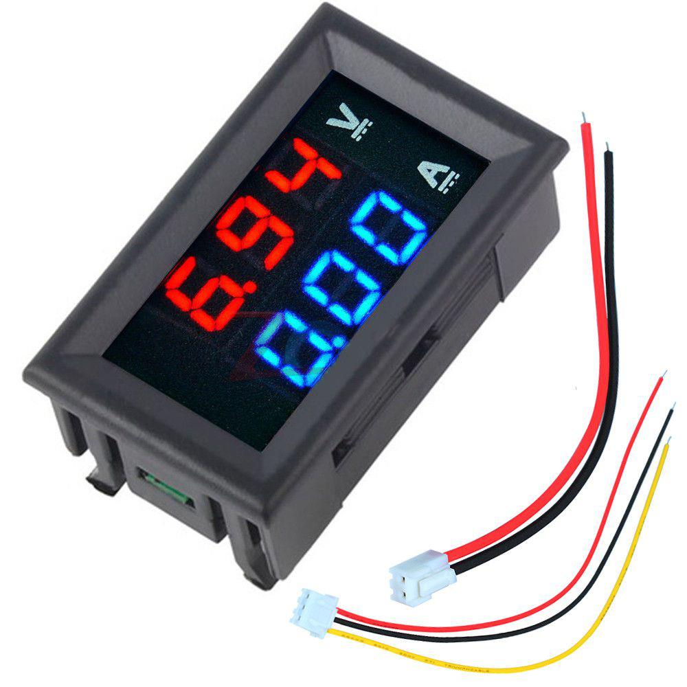 Geekcreit® Mini Digital Voltmeter Ammeter DC 100V 10A Voltmeter Current Meter Tester Blue+Red Dual LED Display