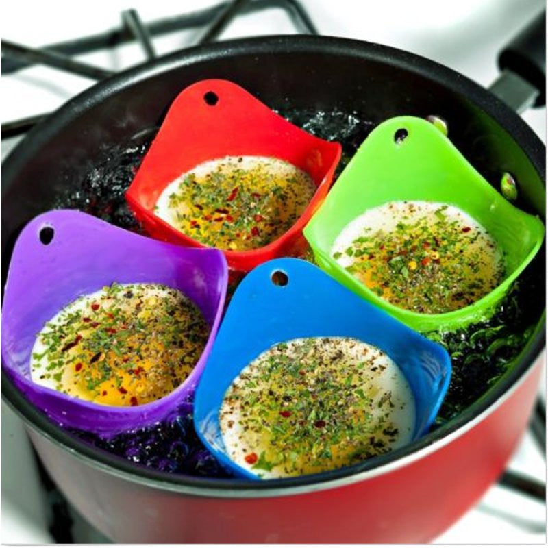 Silicone DIY Egg Poacher Cook Poach Pods Kitchen Baking Cookware Poached Cup Egg Boiler