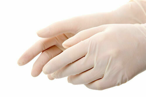 Latex Gloves (100 count) Foodservice Grade 5 Mil Vinyl  (Non Powdered Nitrile Exam)