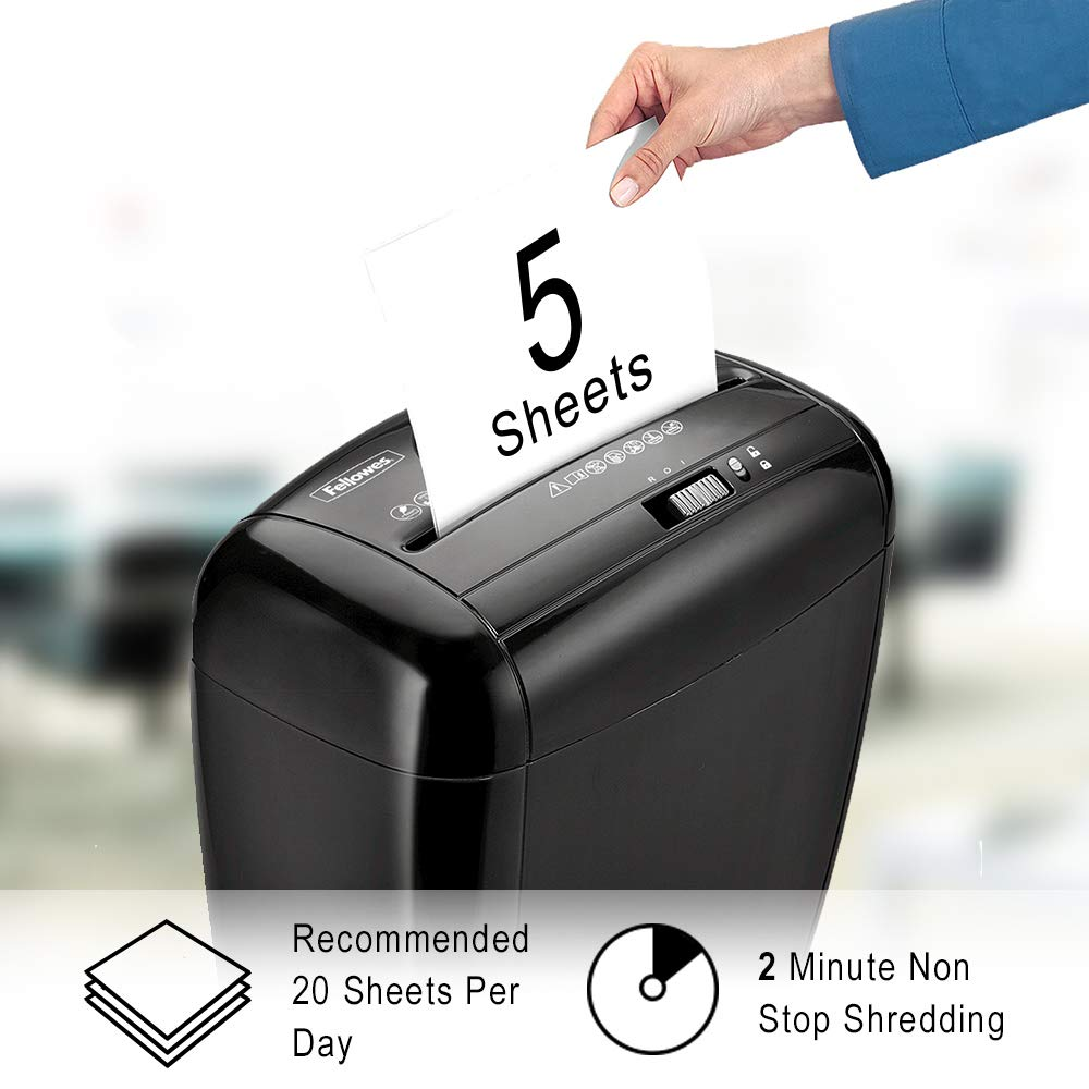 Fellowes 3213501 Powershred P-35C 5-Sheet Cross-Cut Home Office Shredder