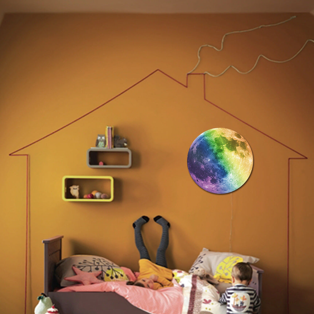 30cm Colorful Large Moon Wall Sticker