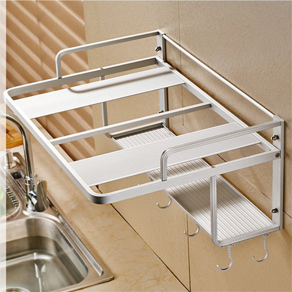 550x385x245mm Hanging Microwave Oven Stand Storage Rack Shelf Space Saving Kitchen Bracket Frame