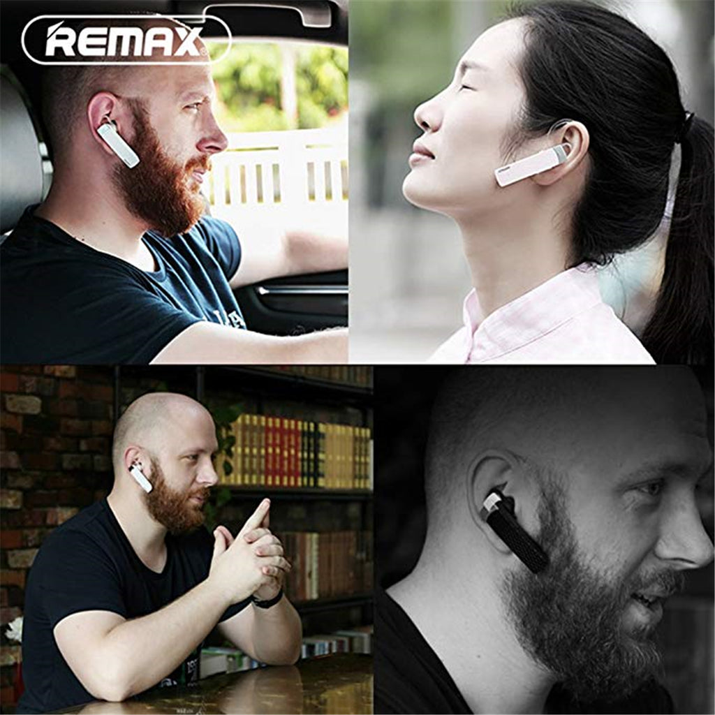 Remax RB-T9 bluetooth 4.1 Wireless Single Earphone Hifi Handsfree Business Headphone With Mic Support