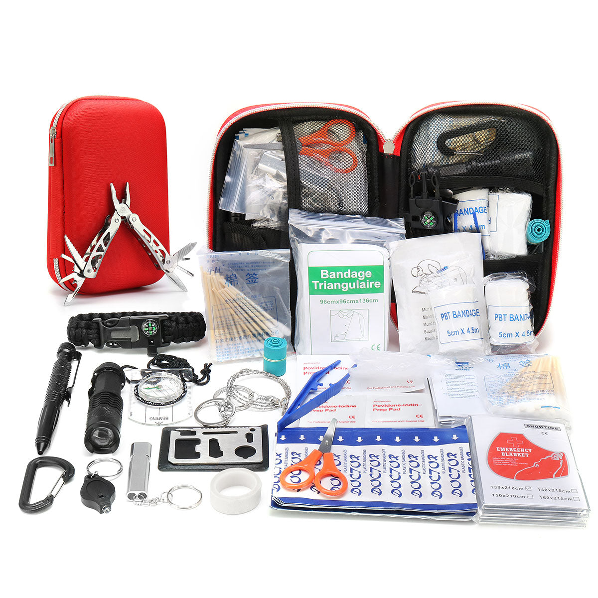 Emergency Camping Survival First Aid Kit Outdoor Gear Tool Box