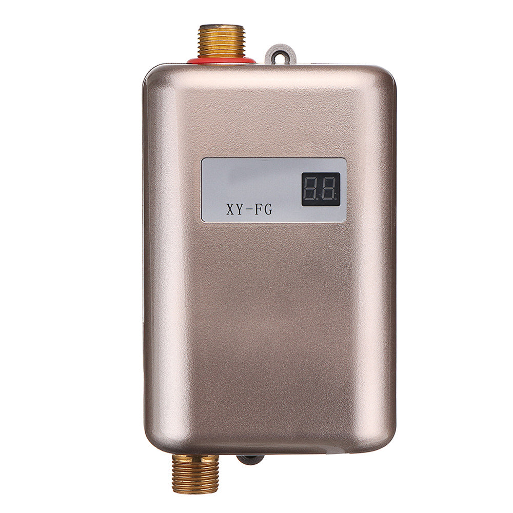 220V 3.8KW LCD Electric Tankless Instant Hot Water Heater for Bathroom Kitchen Sink Faucet