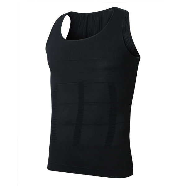 Men's Belly Body Shaper Vest Shirt Corset Belt Comfortable - Black XL