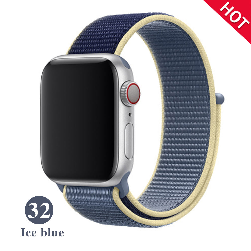 Band For Apple Watch Series 5 4 3 2 1 38MM 42MM watchband Breathable Nylon Strap Sport Loop for iwatch Bracelet 40MM 44MM
