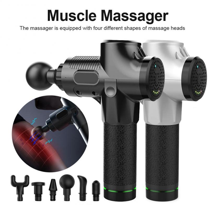 Electric Muscle Massager Therapy Fascia Massage Gun Deep Vibration Muscle Relaxation Massager Fitness Equipment with Bag