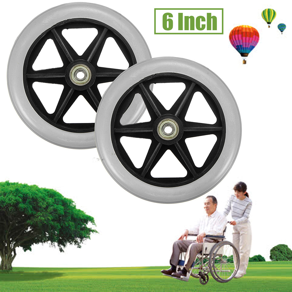 150x35mm Front Rear Wheels Replacement Parts for Cardinal Rollator Walker C46