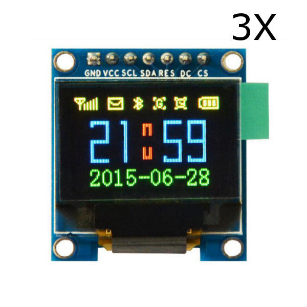 3Pcs 0.95 Inch 7pin Full Color 65K Color SSD1331 OLED Display SPI Geekcreit for Arduino - products that work with official Arduino boards