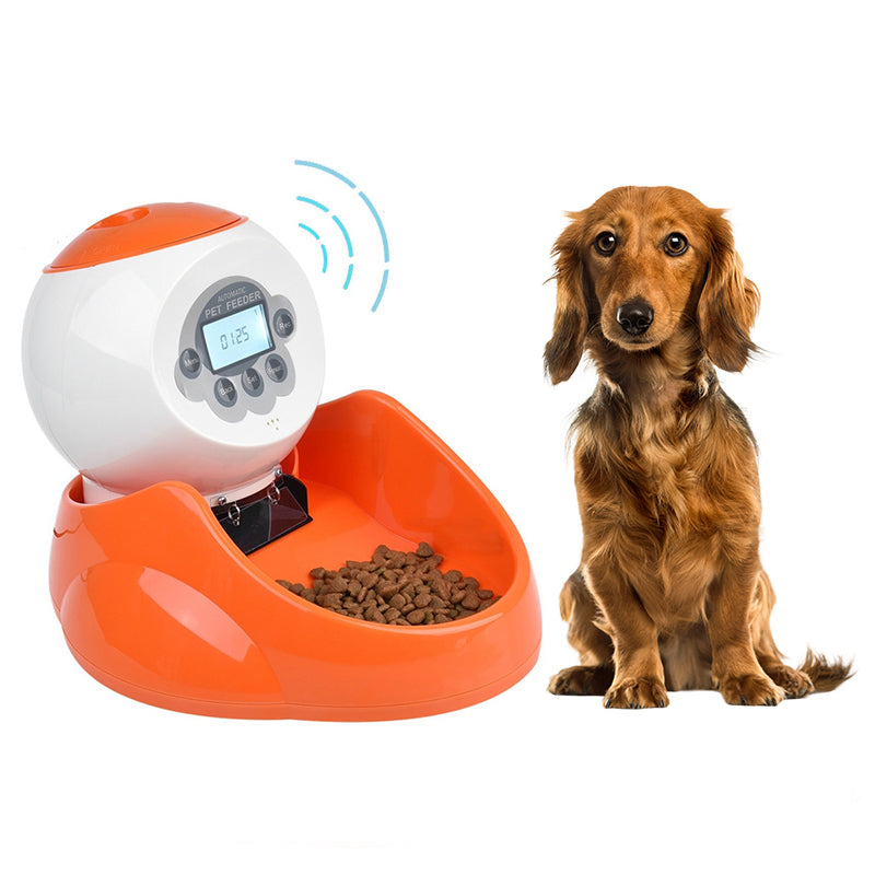 35 Ounces Dogs Cats  Small Animals LCD Display Panel Pets Smart Automatic Pet Feeder Food Dispenser