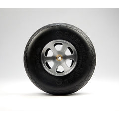 "Aluminum Wheel for 3 1/2"" - 4"" Tire 1/4"" Axle"