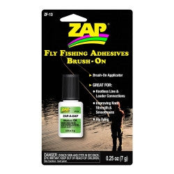 ZF-13 Zap-A-Gap Brush-On Fly Fishing Adhesives