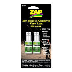 ZF-14 Zap-A-Gap Vest Pack Fly Fishing Adhesives