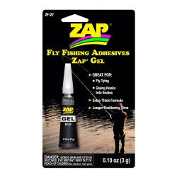 ZF-27 Zap Gel Fly Fishing Adhesives