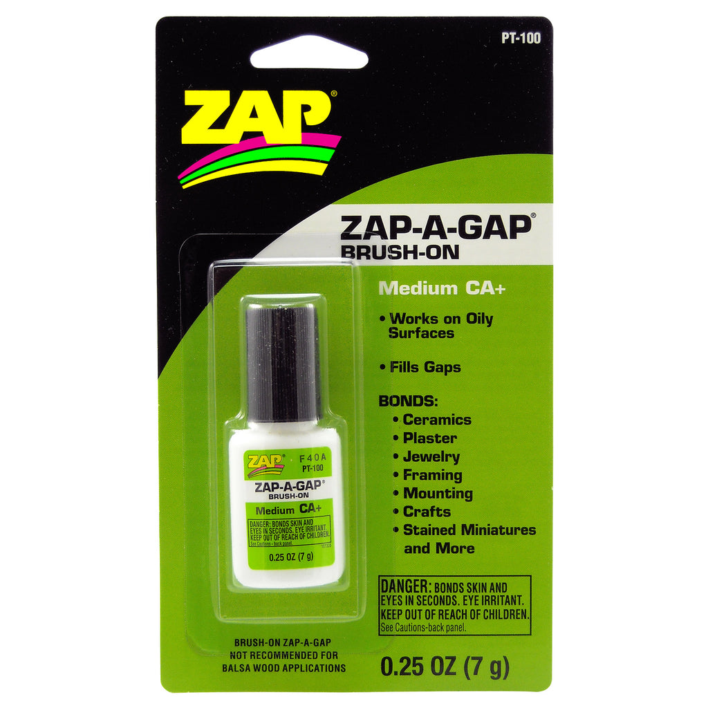 #PT-100   1/4 oz. ZAP-A-GAP CA+ Brush-On
