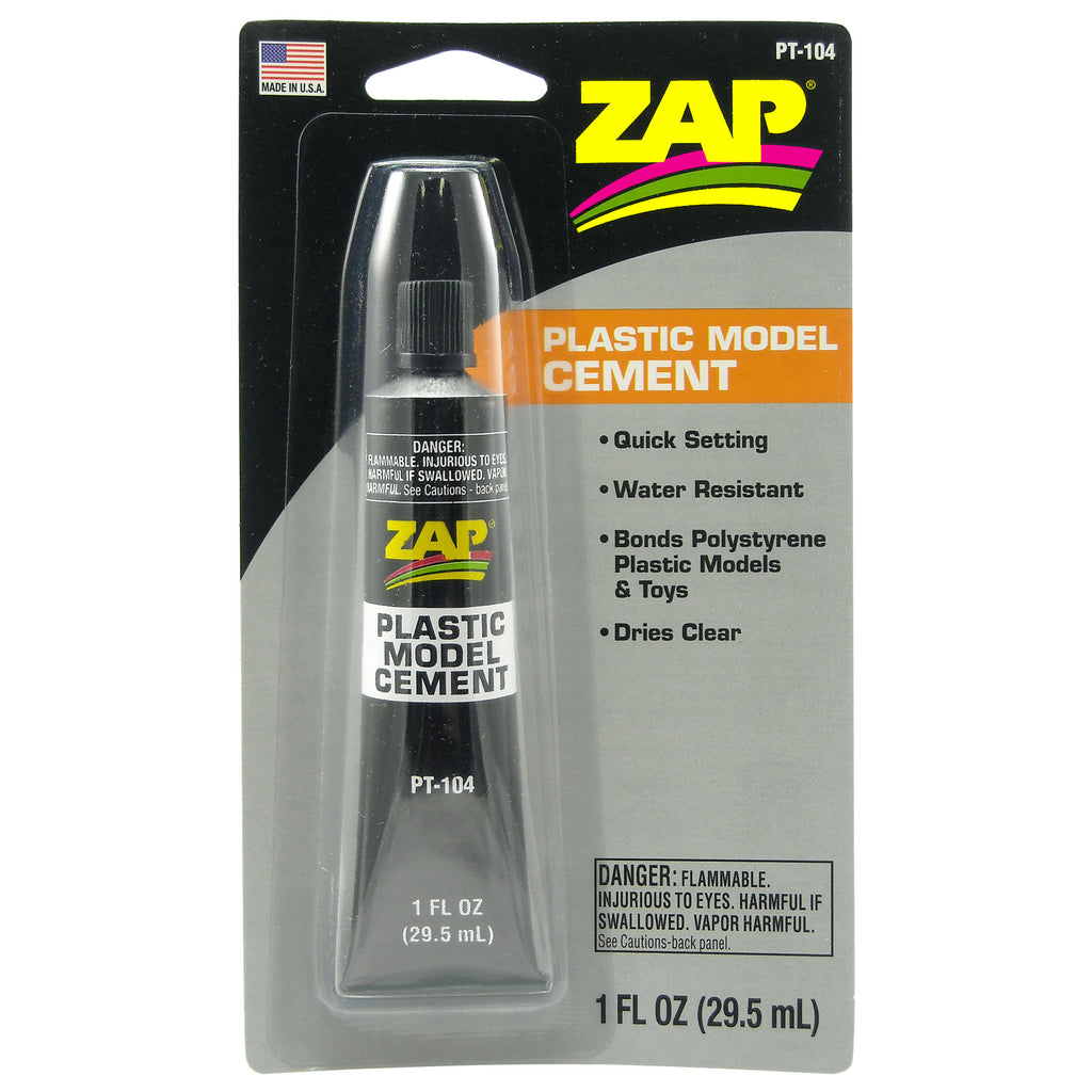 #PT-104   1 oz. Zap Plastic Model Cement
