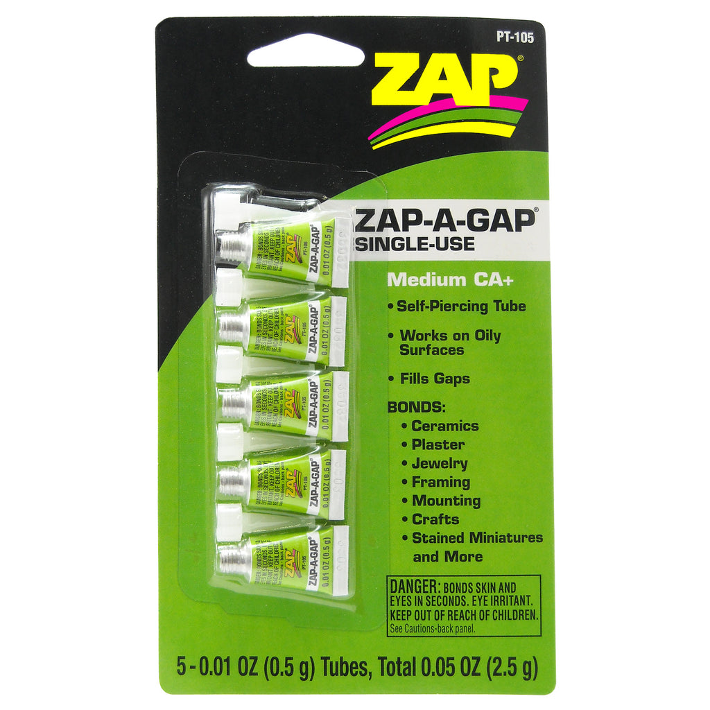 #PT-105   .5 gram ZAP-A-GAP CA+ Single Use