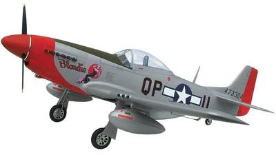 "Top RC P-51D Mustang Scale RC Plane 89"" - BLONDIE"
