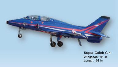 "Top RC G-4 Super Galeb Scale R/C Jet 69"" Blue"