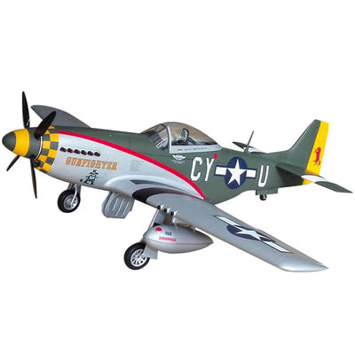 "Top RC P-51D Mustang Scale RC Plane 89"" - GUNFIGHTER"