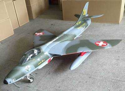 Top RC Hawker Hunter Scale R/C Jet 95""