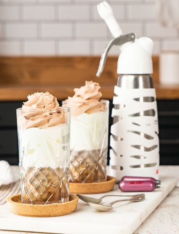 whipped cream made with whipped cream dispenser