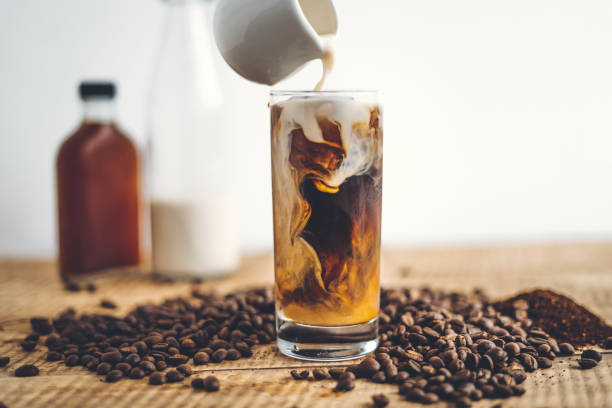 Cold brewed coffee with added cream