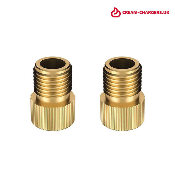 Brass Presta to Schrader Bike Valve Adaptor Gdr retail ltd trading as: cream-chargers.uk | Company number: 10954397 | VAT number: GB 278 2064 87