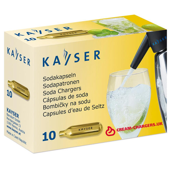Kayser Co2 soda chargers (variable quantity) 8g Co2 Kayser