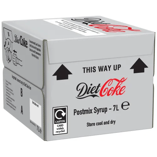 Diet Coca-Cola post mix syrup (7L) Soda post mix syrup Coca-Cola