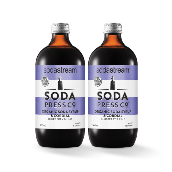 SodaStream Soda Press Blueberry & Lime Twin Pack Soda post mix syrup SodaStream