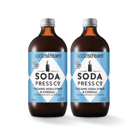 SodaStream Soda Press Old Fashioned Lemonade Soda post mix syrup SodaStream