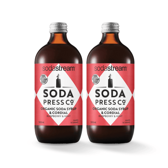 SodaStream Soda Press Raspberry & Mint Twin Pack Soda post mix syrup SodaStream