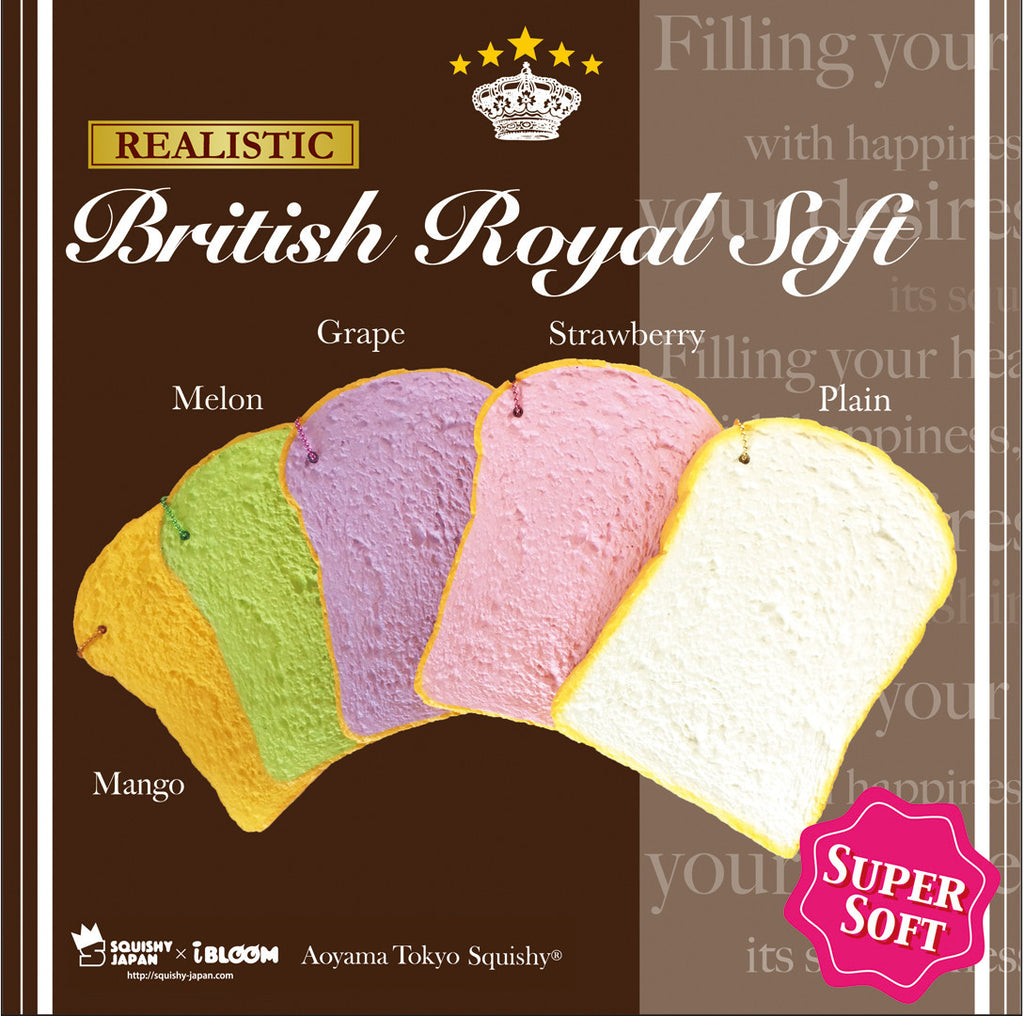 iBloom British Royal Soft Bread Slice Squishy