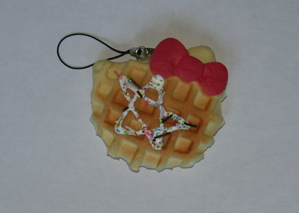 Red Bow Hello Kitty Waffle Squishy