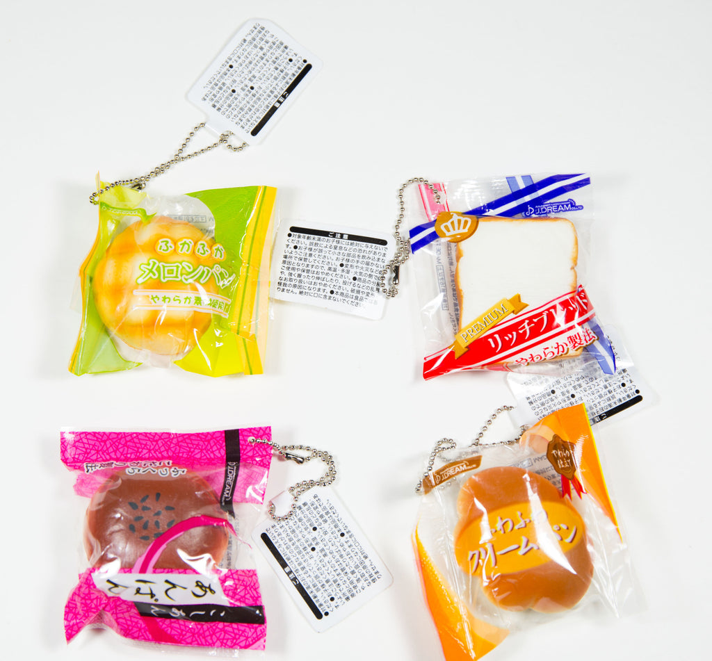 Jdream Mini Bread Squishies in Original Packaging