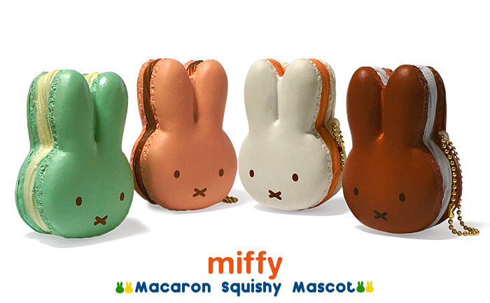 Authentic NIC Miffy Puni Puni Mascot Miffy Macaroon Squishy