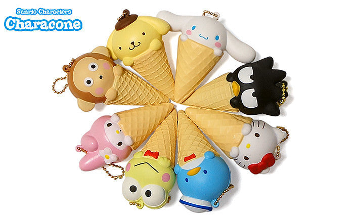 New Sanrio NIC  Characone Squishy Featuring Hello Kitty and Friends