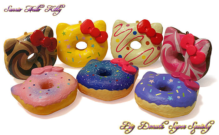 Authentic Sanrio Licensed Hello Kitty Big Donut Squishy By NIC