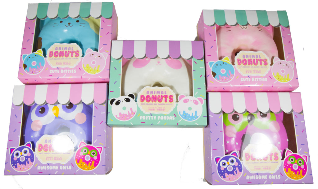 Puni Maru Jumbo Animal Donut Squishy all versions in box