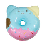 Puni Maru Jumbo Animal Donut Squishy Blue cat  version front view