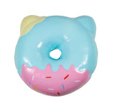 Puni Maru Jumbo Animal Donut Squishy Blue cat  version rear view