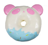 Puni Maru Jumbo Animal Donut Squishy Strawberry Panda version front view