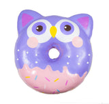 Puni Maru Jumbo Animal Donut Squishy purple owl version front view