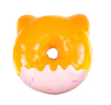 Puni Maru Jumbo Animal Donut Squishy purple owl version rear view
