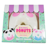 Puni Maru Jumbo Animal Donut Squishy Strawberry Panda version in box front view