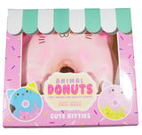 Puni Maru Jumbo Animal Donut Squishy pink cat  version in box front view