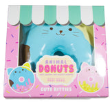 Puni Maru Jumbo Animal Donut Squishy Blue cat  version in box front view