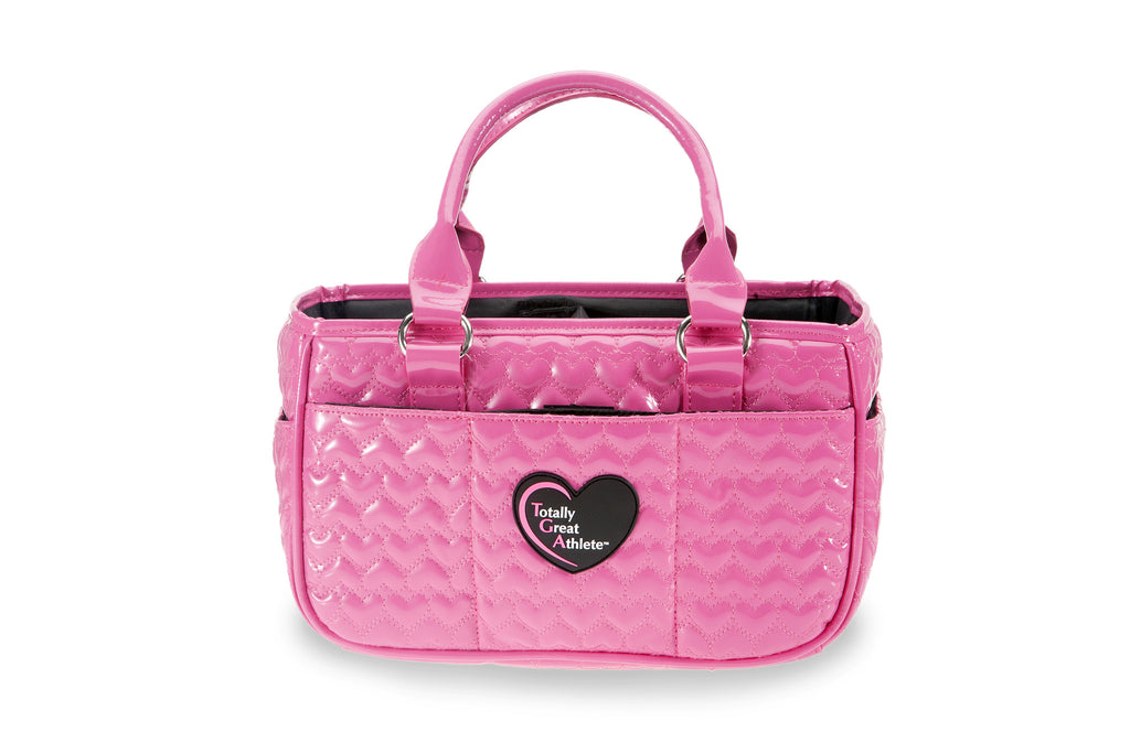 Glossy Hot Pink Heart TGA Athletic Handbag
